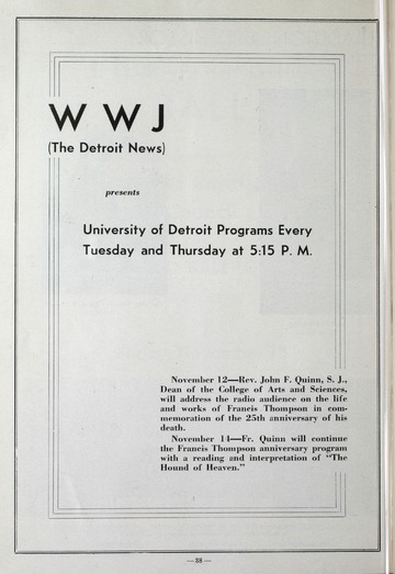 University of Detroit Football Collection: University of Detroit vs. Bucknell University Program