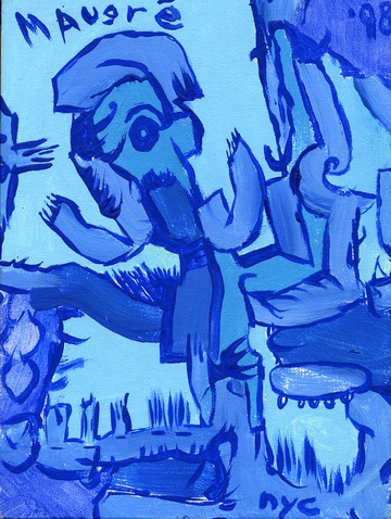 Maurice Greenia, Jr. Collections: Blue Painting