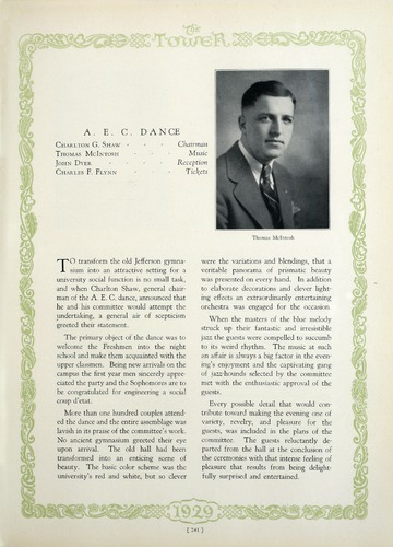 University of Detroit Yearbook Collection: The Tower 1929